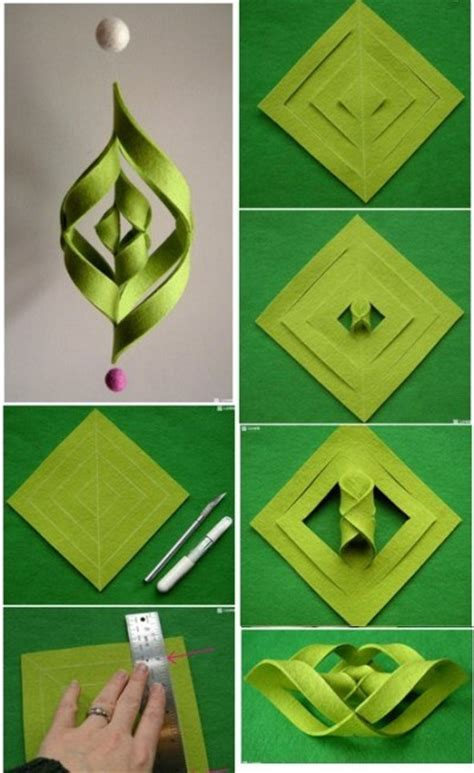 How To Make Paper Ornaments Step By Step - 20 diy decorations and crafts ideas