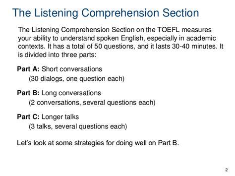 toefl listening section listening b skills 18 22