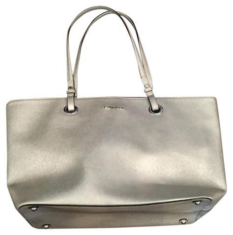 Calvin Klein Silver calvin klein silver tote bag on sale 55 totes on sale