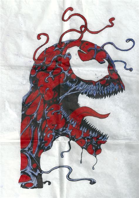 carnage drawing for tattoo by flaviudraghis on deviantart