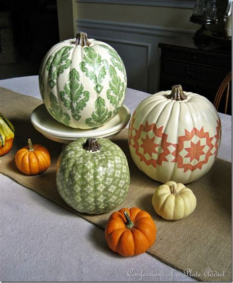 Decoupage Pumpkins - confessions of a plate addict fall projects