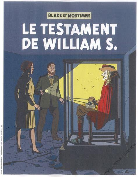 libro blake mortimer 24 171 les aventures de blake et mortimer t24 le testament de william s 187 par andr 233 juillard et