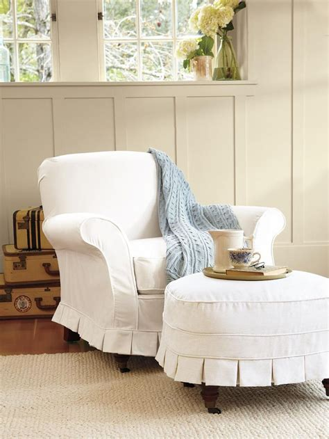 Slipcovers For Chairs And Ottomans 1000 Ideas About Slipcovers For Chairs On Ottoman Cover Shabby Chic Chairs And