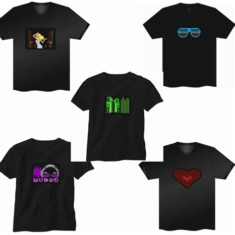 light up t shirt sale sound activated led t shirt light up