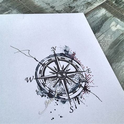 compass tattoo tumblr watercolor compass tattoos
