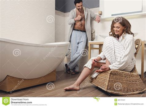 couples in bathroom couple in the bathroom stock image image 30179121