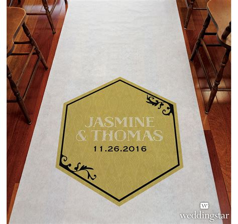 Wedding Aisle Runner Gold by Black And Gold Opulence Aisle Runner Aisle Runner