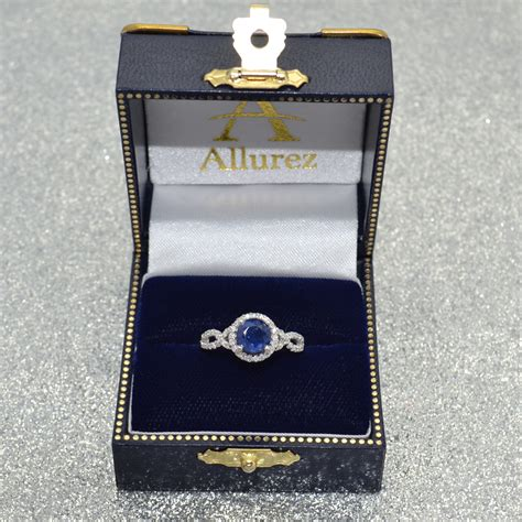 Blue Sapphire 6 55ct blue sapphire twisted engagement ring 14k white