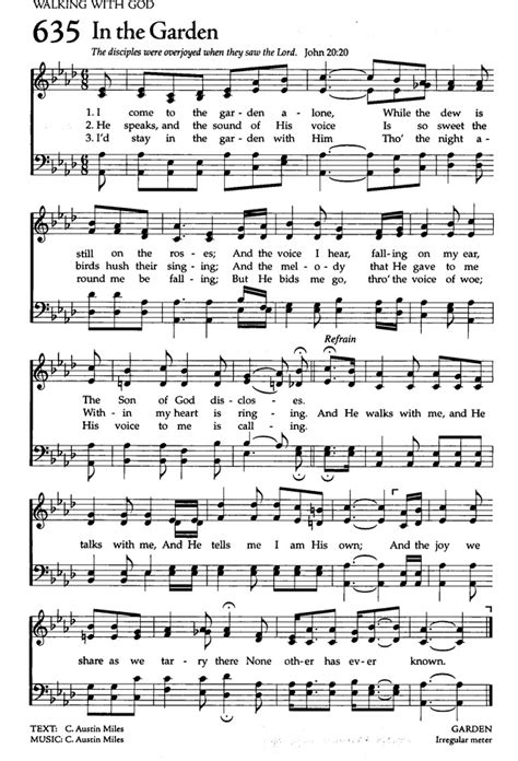Song In The Garden by The Celebration Hymnal Songs And Hymns For Worship 635 I