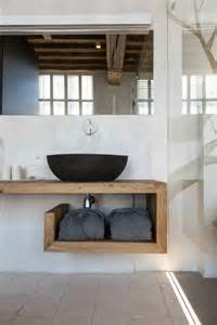 waschtisch badezimmer waschtisch aus holz f 252 r mehr gem 252 tlichkeit im bad