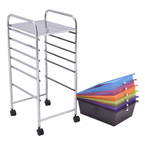 Small Rolling Cart With Drawers 6 Drawers Rolling Storage Cart Tools Scrapbook Paper