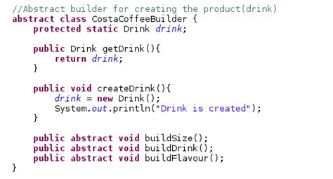 design pattern java code exle java latte builder design pattern in java