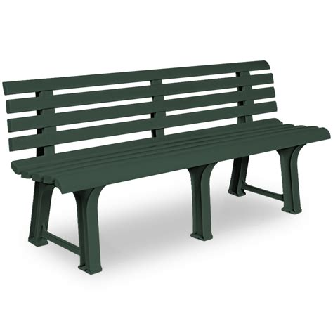 bench garden seater plastic outdoor patio furniture
