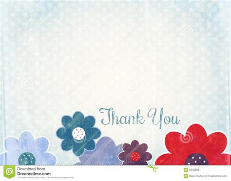 thank you note paper stock illustration image 63405087