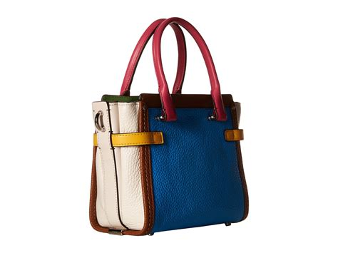 Coach Swagger 21 Platinum 1 coach rainbow color block coach swagger 21 zappos free shipping both ways