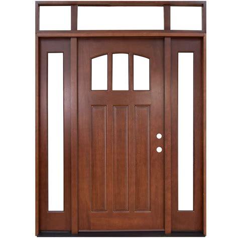 Home Depot Craftsman Door by Steves Sons 64 In X 80 In Craftsman 3 Lite Arch