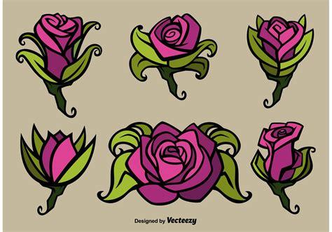rose flower vector illustrations download free vector