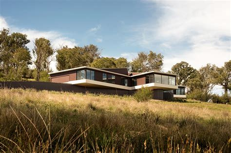 countryside house designs modern countryside house with unique views of the meadows in australia freshome com
