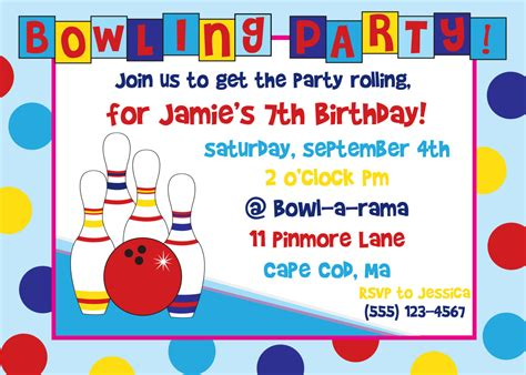 free bowling birthday invitation card template bowling invitations theruntime