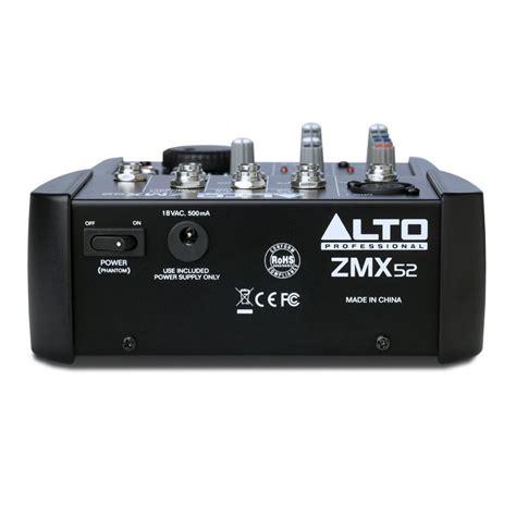 Mixer Alto 4 Channel alto zephyr zmx52 5 channel compact mixer at gear4music