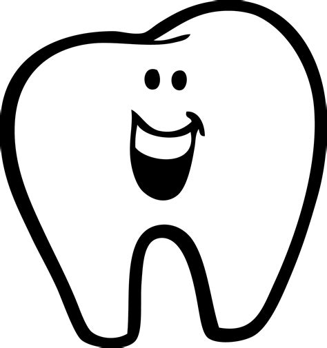 tooth clipart teeth clip image black and white
