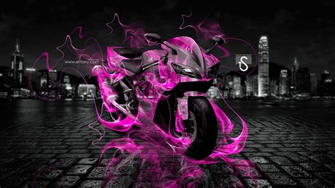 Car Wallpaper For Moto E by Moto Yamaha R1 Pink City Car 2013 Hd Wallpapers