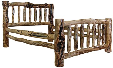 Log King Size Bedroom Sets by Aspen Wood Corral Bed Available In California King King