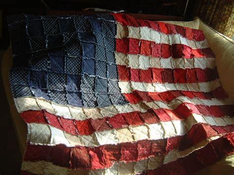 american flag rag quilt pattern paper