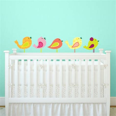 Bird Wall Decals For Nursery Nursery Bird Wall Decal Set Of 5 Wall Decal World