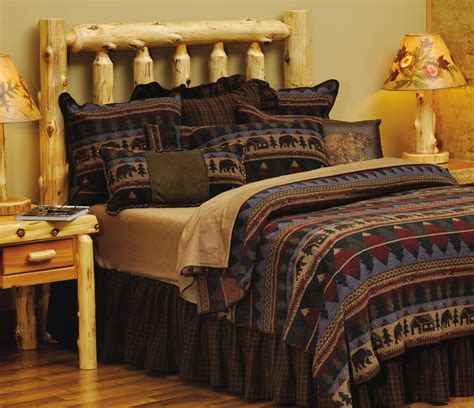 log cabin bedding rustic cabin furnishings luxury bedding