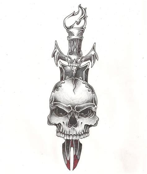 skull and sword tattoo sword in skull tat by mr p p hed on deviantart