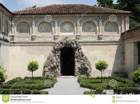 Italian Garden Mantua by Palazzo Te Mantova Italy The Grotto Stock Photography