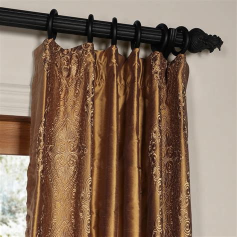 brown silk curtains classic chai brown gold silk curtains drapes