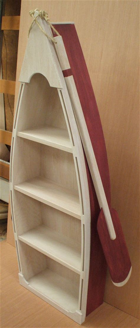 5 foot row boat bookshelf bookcase shelves skiff