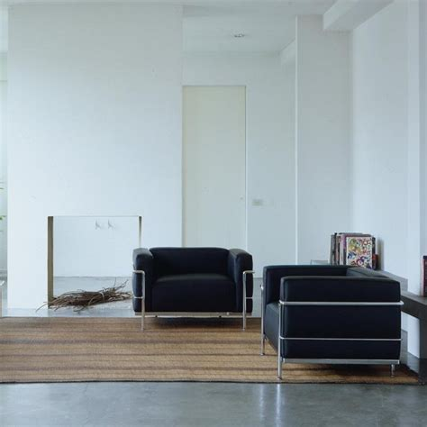 wohnzimmer le le corbusier lc3 sessel cassina cassina ambientedirect