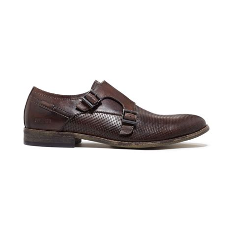 kenneth cole brown shoes lyst kenneth cole reaction pin monk shoes in