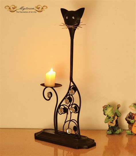 black wrought iron floor ls black wrought iron cat table top candle holder home