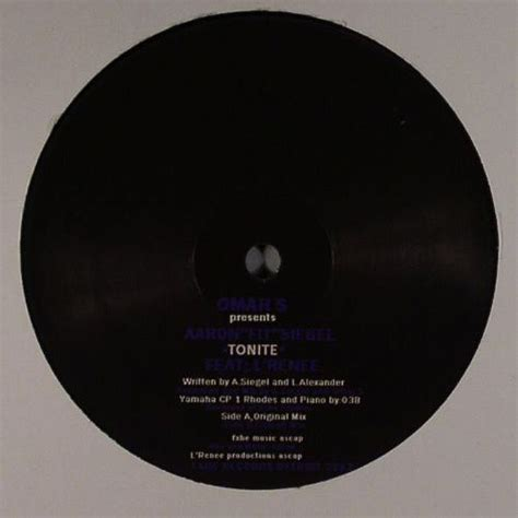 Fit Aaron omar s presents aaron fit siegel feat l renee tonite vinyl
