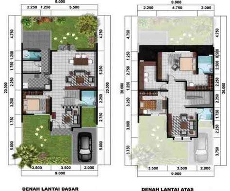 Sk Ii Ukuran Kecil denah rumah 2 lantai ukuran kecil 2017