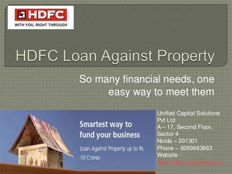 hdfc house loan login hdfc loan against property