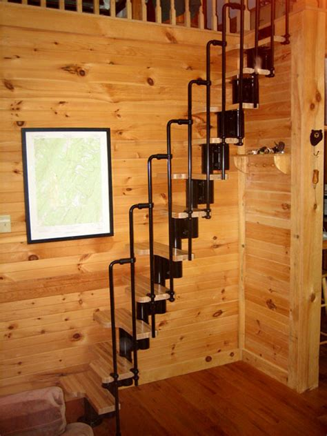 small cabin loft stairs