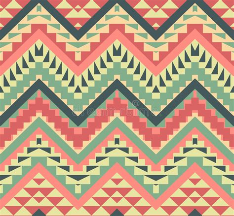 aztec pattern artwork seamless colorful aztec pattern stock vector