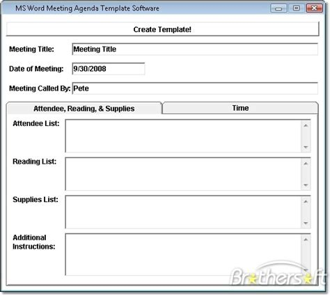 download free ms word meeting agenda template software ms