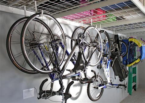 Garage Ceiling Bike Rack by Garage Storage Hooks And Hangers Home Remodeling