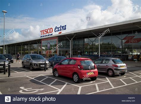 car parking disabled spots at tesco superstore at st