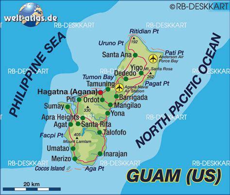 map guam map of guam island in usa welt atlas de