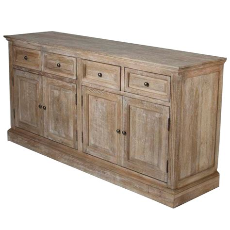 white oak buffet weathered wood buffet country