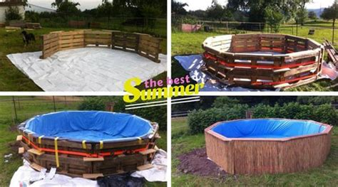 Poolside Benches Diy Pallet Swimming Pool Tutorial
