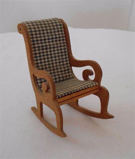 dollhouse rocking chair vintage miniature dollhouse furniture wood rocking chair