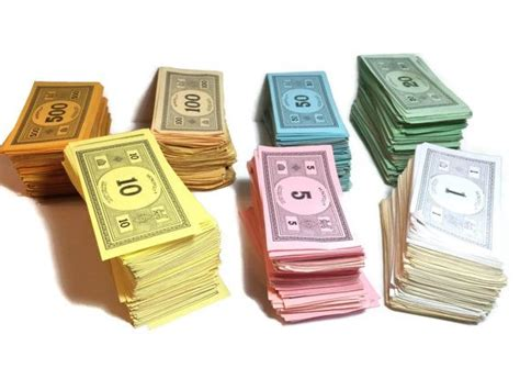 monopoly money colors vintage monopoly money paper money play money colored
